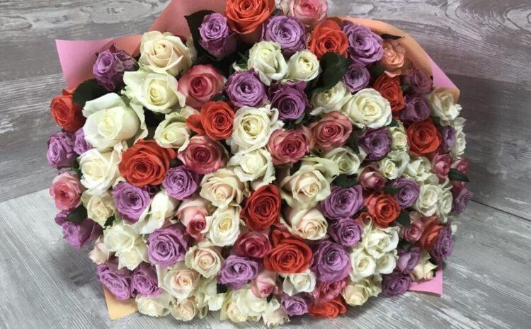 101 роза с доставкой в Бельцах